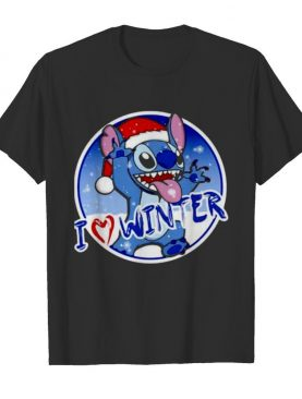 Santa Stitch I love winter Christmas shirt