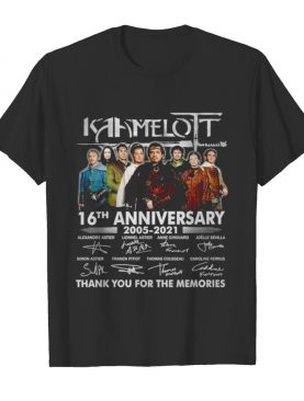 Kamelot 16th anniversary 2005 2021 thank you for the memories shirt