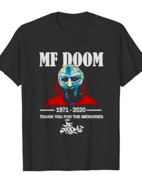 MF Doom 1971-2020 thank you for the memories shirt