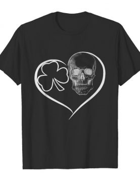Skull Heart St Patricks Day shirt