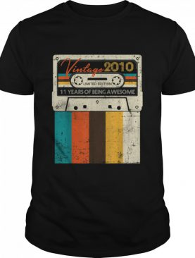 Vintage Made In 2010 11 Years Of Being Awesome Quarantine Birthday shirt